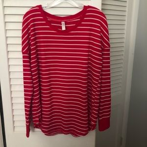 Red and white pajama set